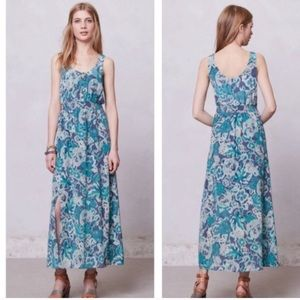 NWT Maeve Blue Maxi Dress Anthropologie